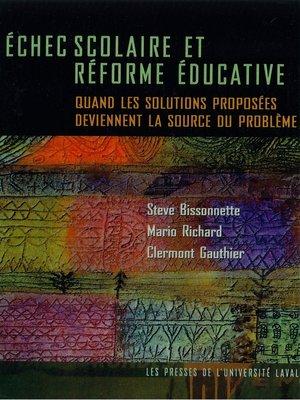 cover image of Echec scolaire et réforme éducative