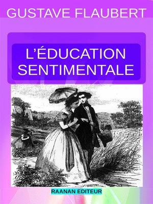 cover image of L'ÉDUCATION SENTIMENTALE