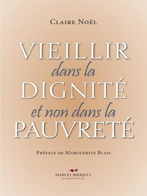 cover image of Vieillir dans la dignité et non dans la pauvreté