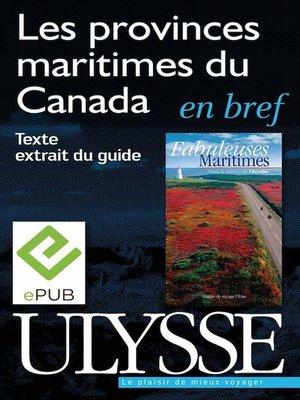 cover image of Les provinces maritimes du Canada en bref