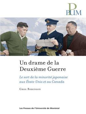cover image of Un drame de la Deuxième Guerre mondiale