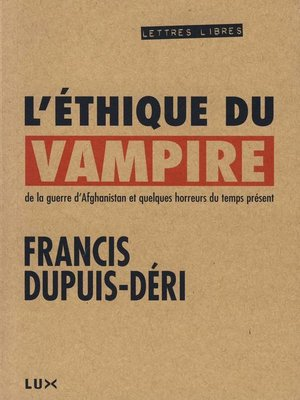 cover image of L'éthique du vampire