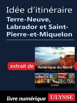 cover image of Itinéraire Terre-Neuve, Labrador et Saint-Pierre-et-Miquelon