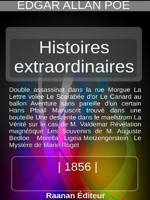 cover image of Histoires extraordinaires 2