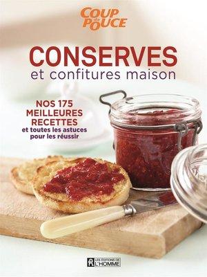 cover image of Conserves et confitures maison
