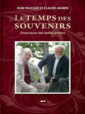 cover image of Le temps des souvenirs