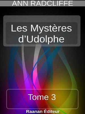 cover image of Les Mystères d'Udolphe 3