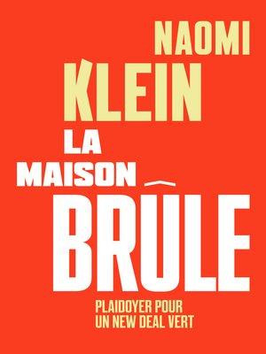 cover image of La maison brûle