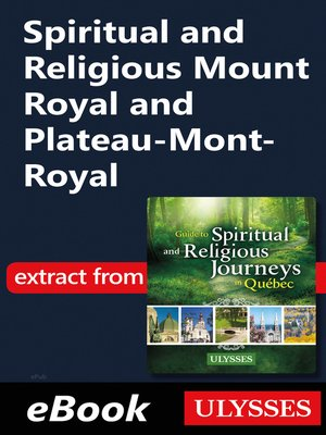 cover image of Spiritual and Religious Mount Royal and Plateau-Mont-Royal