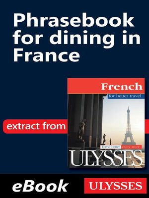 cover image of Phrasebook for dining in France