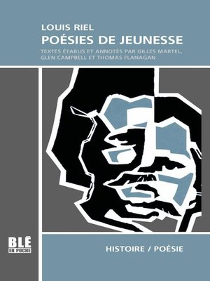 cover image of Louis Riel Poésies de jeunesse
