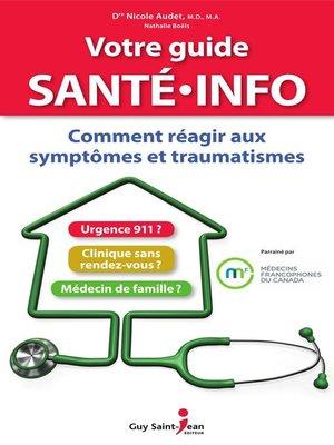 cover image of Votre guide santé info