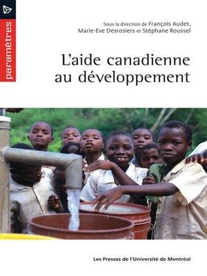 cover image of L'aide canadienne au développement