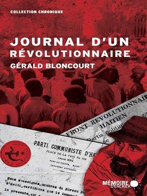 cover image of Journal d'un révolutionnaire