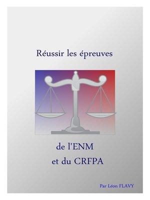 cover image of LIVRE DU CRFPA