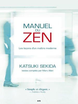 cover image of Manuel du zen