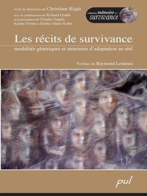 cover image of Les récits de survivance