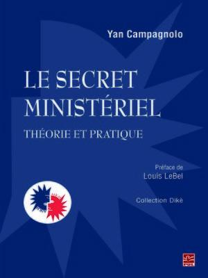 cover image of Le secret ministériel