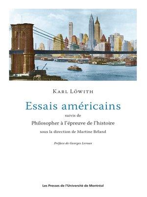cover image of Essais américains