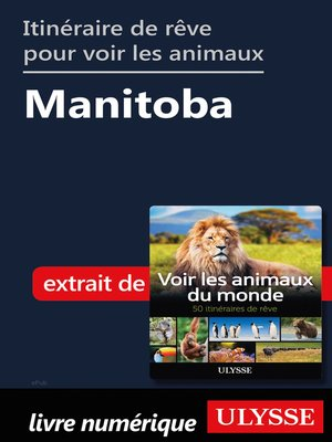 cover image of Itinéraire de rêve pour voir les animaux-- Manitoba