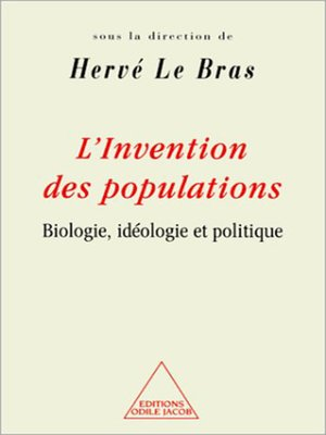 cover image of L' Invention des populations