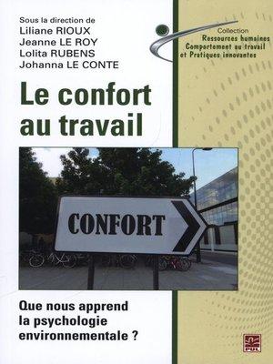 cover image of Le confort au travail