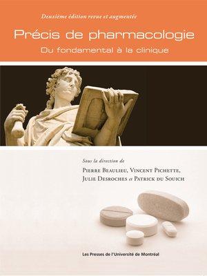 cover image of Précis de pharmacologie