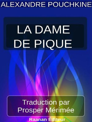 cover image of LA DAME DE PIQUE