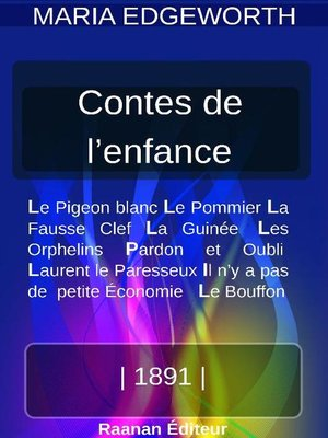 cover image of Contes de l'enfance