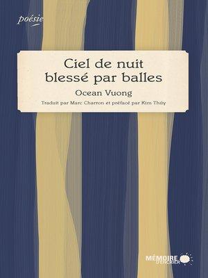 cover image of Ciel de nuit blessé par balles