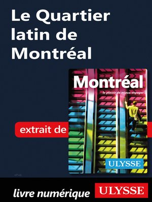 cover image of Le Quartier latin de Montréal