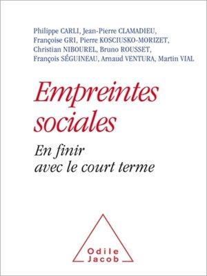 cover image of Empreintes sociales