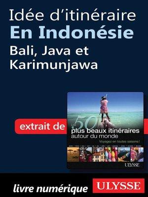 cover image of Idée d'itinéraire en Indonésie--Bali, Java et Karimunjawa
