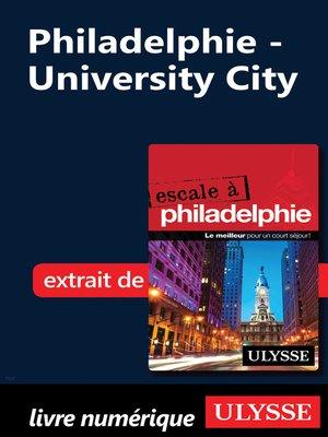 cover image of Philadelphie--University City