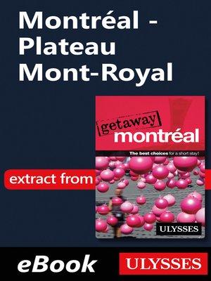 cover image of Montréal--Plateau Mont-Royal