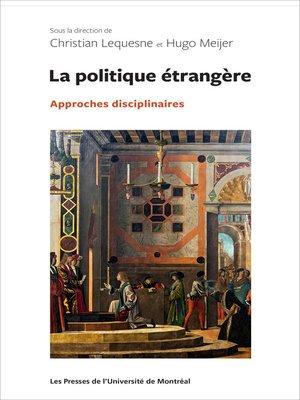 cover image of La politique étrangère
