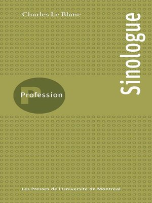 cover image of Profession sinologue