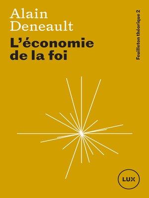 cover image of L'économie de la foi