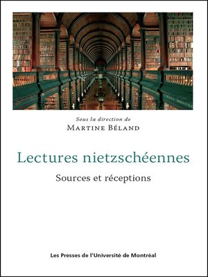 cover image of Lectures nietzschéennes