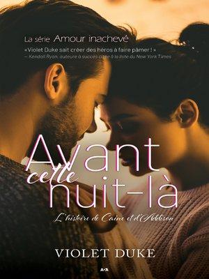 cover image of Avant cette nuit-là