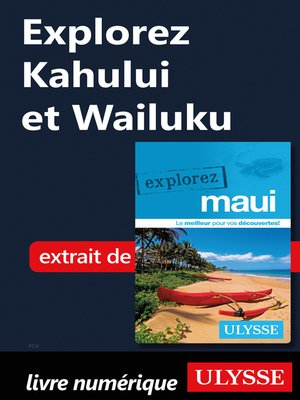 cover image of Explorez Kahului et Wailuku