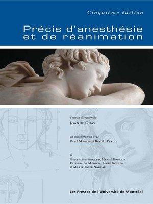 cover image of Précis d'anesthésie et de réanimation