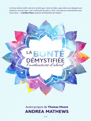 cover image of La bonté démystifiée