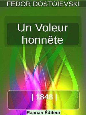 cover image of Un Voleur honnête
