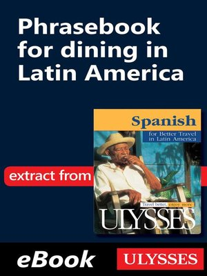 cover image of Phrasebook for dining in Latin America