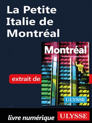 cover image of La Petite Italie de Montréal
