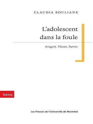 cover image of L'adolescent dans la foule