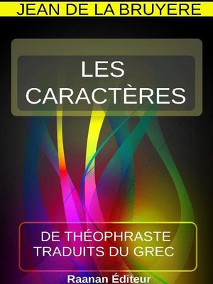 cover image of Les Caractères