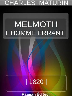 cover image of MELMOTH OU L'HOMME ERRANT