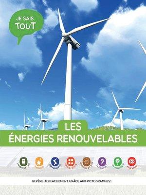cover image of Les énergies renouvelables